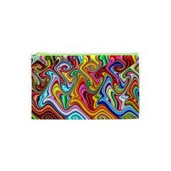 Rainbow Gnarls Cosmetic Bag (xs) by WolfepawFractals