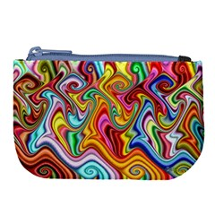 Rainbow Gnarls Large Coin Purse by WolfepawFractals