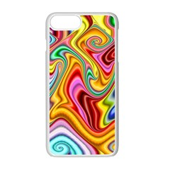Rainbow Gnarls Apple Iphone 7 Plus White Seamless Case by WolfepawFractals
