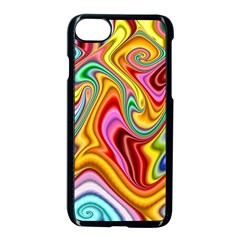 Rainbow Gnarls Apple Iphone 7 Seamless Case (black) by WolfepawFractals