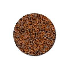 Broken Pattern A Rubber Coaster (round)  by MoreColorsinLife