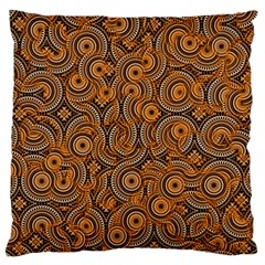 Broken Pattern A Large Flano Cushion Case (two Sides) by MoreColorsinLife
