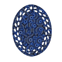 Broken Pattern C Oval Filigree Ornament (two Sides) by MoreColorsinLife