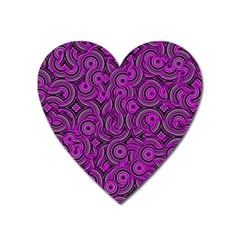 Broken Pattern B Heart Magnet by MoreColorsinLife