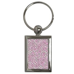 Broken Pattern E Key Chains (rectangle)  by MoreColorsinLife