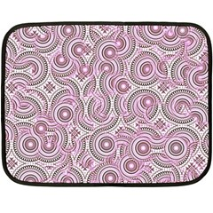Broken Pattern E Double Sided Fleece Blanket (mini)  by MoreColorsinLife