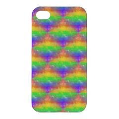 Painted Rainbow Pattern Apple Iphone 4/4s Hardshell Case by Brini