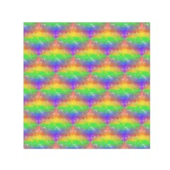 Painted Rainbow Pattern Small Satin Scarf (square) by Brini