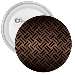 Woven2 Black Marble & Bronze Metal (r) 3  Button by trendistuff
