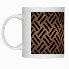 Woven2 Black Marble & Bronze Metal (r) White Mug by trendistuff