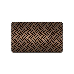 Woven2 Black Marble & Bronze Metal (r) Magnet (name Card) by trendistuff
