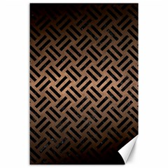 Woven2 Black Marble & Bronze Metal (r) Canvas 24  X 36  by trendistuff