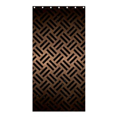 Woven2 Black Marble & Bronze Metal (r) Shower Curtain 36  X 72  (stall) by trendistuff