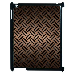 Woven2 Black Marble & Bronze Metal (r) Apple Ipad 2 Case (black) by trendistuff