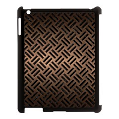 Woven2 Black Marble & Bronze Metal (r) Apple Ipad 3/4 Case (black) by trendistuff