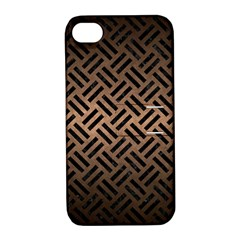 Woven2 Black Marble & Bronze Metal (r) Apple Iphone 4/4s Hardshell Case With Stand by trendistuff