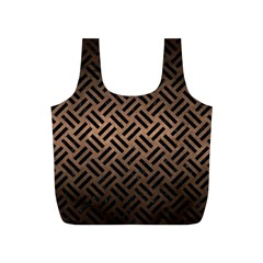 Woven2 Black Marble & Bronze Metal (r) Full Print Recycle Bag (s) by trendistuff