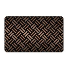 Woven2 Black Marble & Bronze Metal Magnet (rectangular) by trendistuff