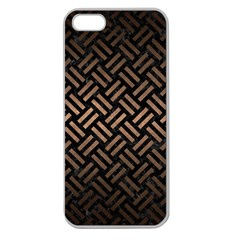 Woven2 Black Marble & Bronze Metal Apple Seamless Iphone 5 Case (clear) by trendistuff