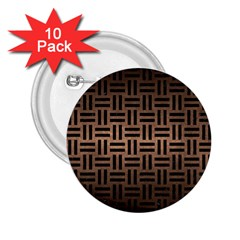 Woven1 Black Marble & Bronze Metal (r) 2 25  Button (10 Pack) by trendistuff