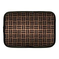 Woven1 Black Marble & Bronze Metal (r) Netbook Case (medium) by trendistuff