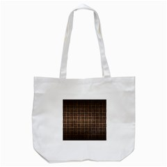 Woven1 Black Marble & Bronze Metal (r) Tote Bag (white) by trendistuff