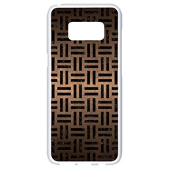 Woven1 Black Marble & Bronze Metal (r) Samsung Galaxy S8 White Seamless Case by trendistuff