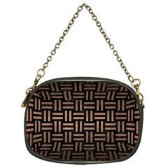 Woven1 Black Marble & Bronze Metal Chain Purse (one Side) by trendistuff