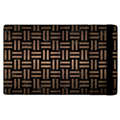 Woven1 Black Marble & Bronze Metal Apple Ipad 2 Flip Case by trendistuff