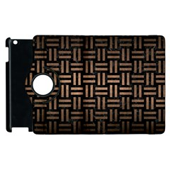 Woven1 Black Marble & Bronze Metal Apple Ipad 3/4 Flip 360 Case by trendistuff