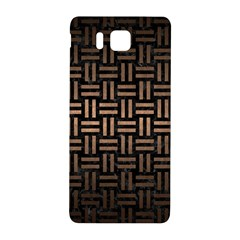 Woven1 Black Marble & Bronze Metal Samsung Galaxy Alpha Hardshell Back Case by trendistuff