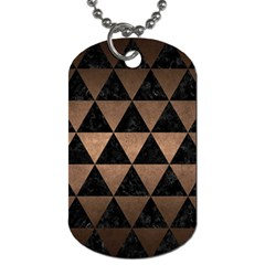 Triangle3 Black Marble & Bronze Metal Dog Tag (two Sides) by trendistuff