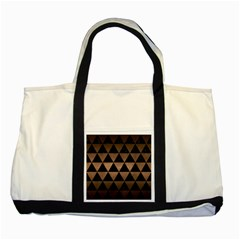 Triangle3 Black Marble & Bronze Metal Two Tone Tote Bag by trendistuff