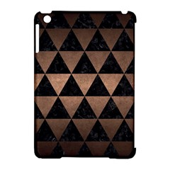 Triangle3 Black Marble & Bronze Metal Apple Ipad Mini Hardshell Case (compatible With Smart Cover)