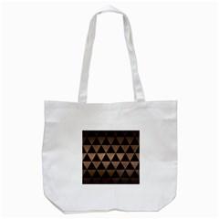Triangle3 Black Marble & Bronze Metal Tote Bag (white) by trendistuff