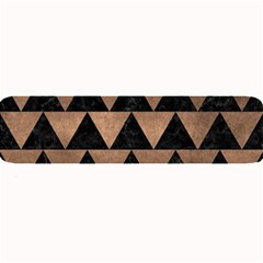 Triangle2 Black Marble & Bronze Metal Large Bar Mat by trendistuff
