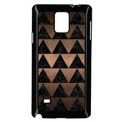 Triangle2 Black Marble & Bronze Metal Samsung Galaxy Note 4 Case (black) by trendistuff