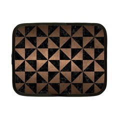 Triangle1 Black Marble & Bronze Metal Netbook Case (small) by trendistuff
