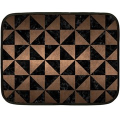 Triangle1 Black Marble & Bronze Metal Double Sided Fleece Blanket (mini)