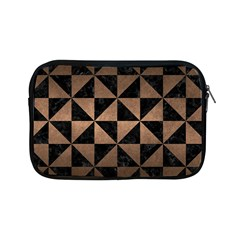Triangle1 Black Marble & Bronze Metal Apple Ipad Mini Zipper Case by trendistuff