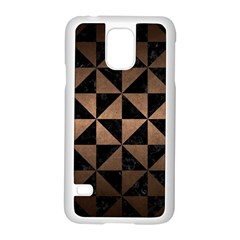 Triangle1 Black Marble & Bronze Metal Samsung Galaxy S5 Case (white) by trendistuff