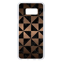 Triangle1 Black Marble & Bronze Metal Samsung Galaxy S8 Plus White Seamless Case by trendistuff