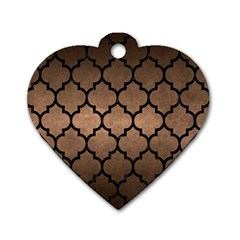 Tile1 Black Marble & Bronze Metal (r) Dog Tag Heart (two Sides) by trendistuff