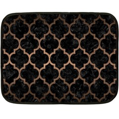 Tile1 Black Marble & Bronze Metal Double Sided Fleece Blanket (mini) by trendistuff