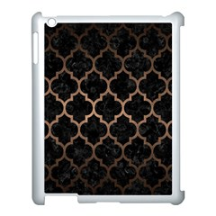 Tile1 Black Marble & Bronze Metal Apple Ipad 3/4 Case (white) by trendistuff