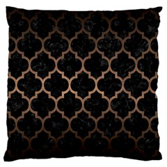 Tile1 Black Marble & Bronze Metal Large Flano Cushion Case (two Sides) by trendistuff