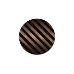 Stripes3 Black Marble & Bronze Metal (r) Golf Ball Marker (10 Pack) by trendistuff