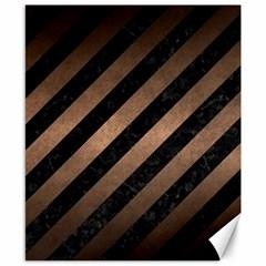 Stripes3 Black Marble & Bronze Metal Canvas 8  X 10  by trendistuff