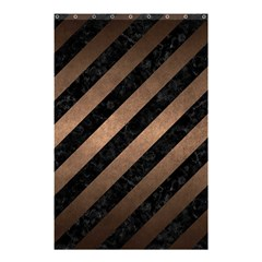 Stripes3 Black Marble & Bronze Metal Shower Curtain 48  X 72  (small) by trendistuff