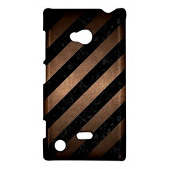 Stripes3 Black Marble & Bronze Metal Nokia Lumia 720 Hardshell Case by trendistuff